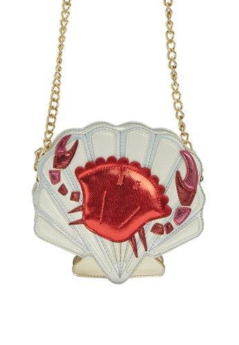 My Flash Trash silver HAPPY FRIDAY Crab Shell Cross Body Bag E2935AC9375E9EGS_1