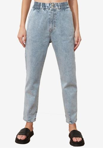 Trendyol blue High Waist Mom Jeans B06E6AA9A425A3GS_1