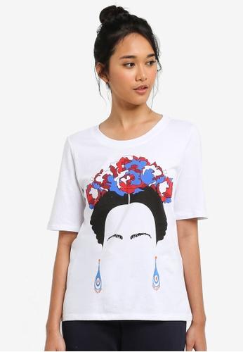 ONLY white Karla T-Shirt 5CF7FAA70B70BAGS_1