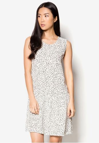 MANGO white Printed Cut-Out Detail Dress MA022AA62YPHSG_1