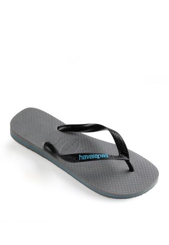 Havaianas grey Logo Filete Flip Flops 179E6SH6B26BE3GS_1