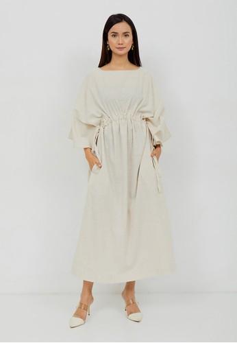 NOA EVERYDAY white HIKARI Batwing Maxi Dress - Cream 798E1AACF90848GS_1