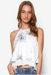 Something Borrowed white Double Layer Top E0F07AAB69AA3FGS_1