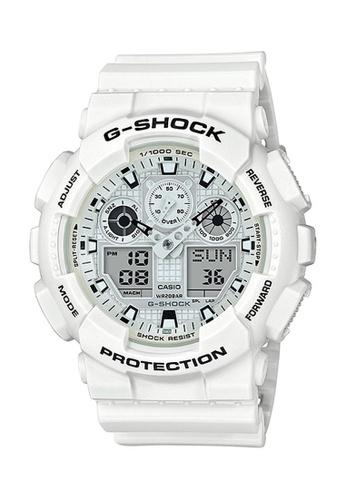 G-shock white CASIO G-SHOCK GA-100MW-7A D1ED6ACF4053FBGS_1