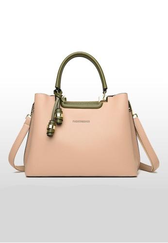 Lara beige Business Women's Zipper Wear-resistant Leather Shoulder Bag Handbag - Beige 6F2A7ACF79760EGS_1