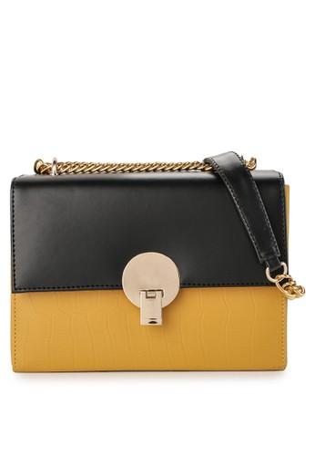 LOLINI yellow and multi Crocks Sling Bag 312C9AC749753CGS_1