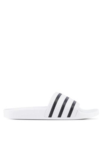 adidas white adidas originals adilette F7F24SHFBA9081GS_1