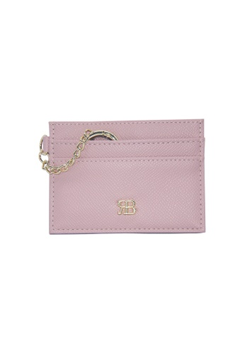 Bethany Roma pink Bethany Roma Card Holder Key Chain - Pink 63D0DACCC2D101GS_1