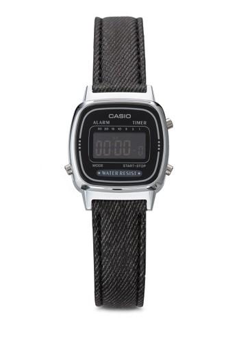 Casio black Casio Jam Tangan - Black Silver - Canvas - LA670WL-1BDF 93DD5AC7CF6A02GS_1