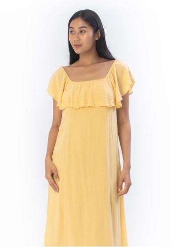 AMUSE SOCIETY yellow VISTA DEL VALLE DRESS-YEL A27D6AA0C02FB1GS_1
