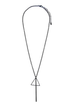 Minimal Musical Triangle Necklace