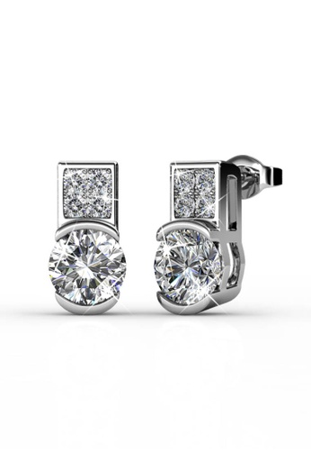Her Jewellery silver Her Jewellery Simply Earrings embellished with 18K Gold Plated 92271ACF99D791GS_1