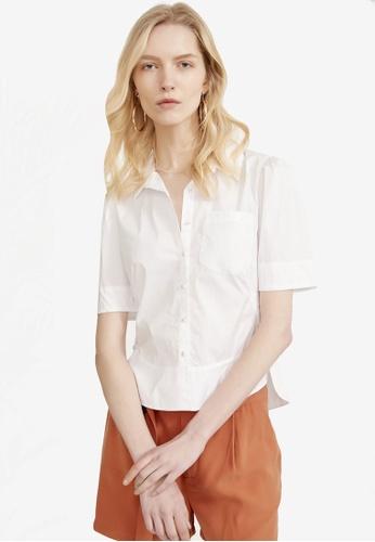 Hopeshow white Short Sleeve Shirt 6FF9AAA2E8CAC2GS_1