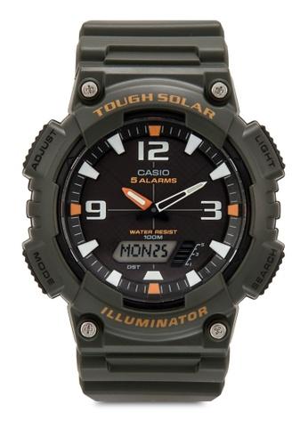 Casio green Youth Analog-Digital Dial Men's Watch - AQ-S810W-3AVDF CA843AC88XZBMY_1