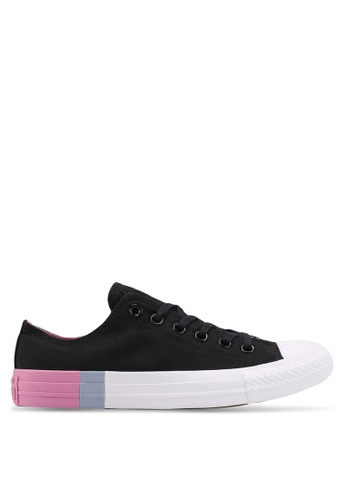 Converse black and white Chuck Taylor All Star Ox Sneakers D5591SHA24DF06GS_1