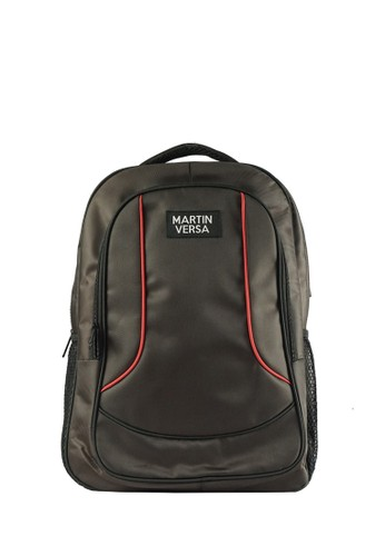 Martin Versa brown Polo Backpack Laptop USB Extender - Canvas Bag TP04 Brown C19F4AC483E9CAGS_1