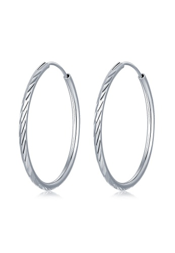 MBLife silver 925 Sterling Silver Faceted Endless Hoop Earrings E620AAC294095FGS_1