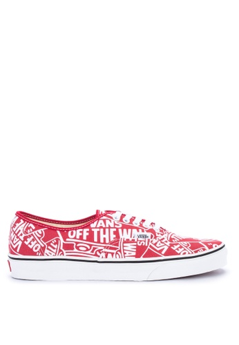 VANS red and multi OTW Repeat Authentic Sneakers 71E33SH571B941GS_1