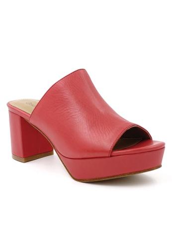 OSCAR & MAYA red HYDRO 3cm Platform-Mid Heel Leather Sandal OS304SH20GKXHK_1