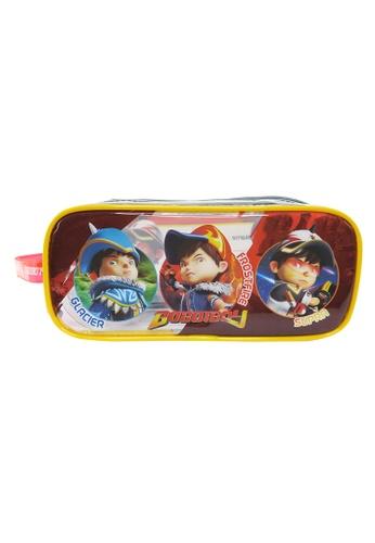 Boboiboy Boboiboy Elemental Fusion Transparent Square Pencil Bag Set 8C233KCBAA5BF4GS_1