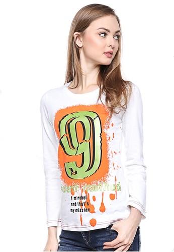 LGS white LGS - Regular Fit - Kaos Wanita - Putih - Gambar Sablon. A9279AA2CDB52FGS_1