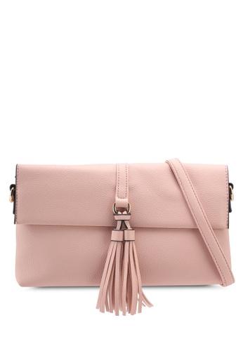 Dorothy Perkins pink Peach Tassel Clutch 5CC72AC0C35A0CGS_1