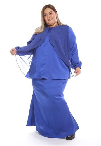Manja Modern Kurung from PLUMERIA in blue_1