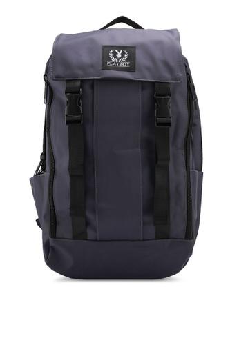 Playboy grey Playboy Laptop Backpack 44F97AC08B0C92GS_1