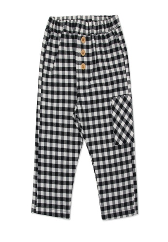 Organic mom black and white Organic Cotton  Bill Plaid Pants 7A7B3KA57C2CD3GS_1