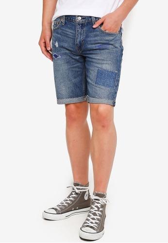 c643c0a3 Levi's blue 511™ Slim Fit Cut-Off Shorts 0F93FAA1FEFADEGS_1