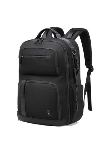 Golden Wolf black Bange Knight Laptop Backpack 8CB91ACBFE5859GS_1