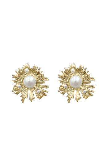 Sunnydaysweety gold Sun Flower Earrings CA060321 713F3AC8D17A45GS_1
