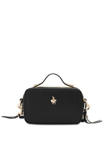 Swiss Polo black Textured Sling Bag 4C2B5AC3819A4DGS_1