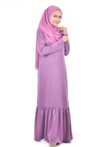 Assie Modesty pink and purple Pamela Dress F226AAA29D28C3GS_1