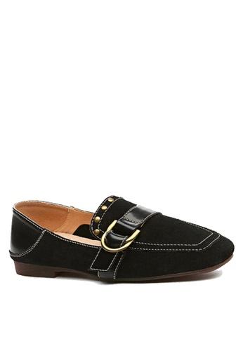 Twenty Eight Shoes 黑色 裝飾扣及鉚釘高面鞋 VF1987 4978ESH8F3ED58GS_1