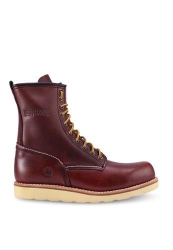 Lumberjacks brown Leather High Cut Boots EAEDDSHE1968A8GS_1
