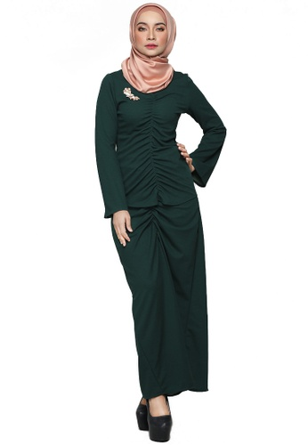 Kesuma Modern Kurung from ARCO in Green