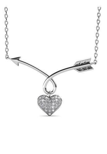 Her Jewellery silver Arrow of Heart Pendant - Made with premium grade crystals from Austria D225EAC7A6047AGS_1