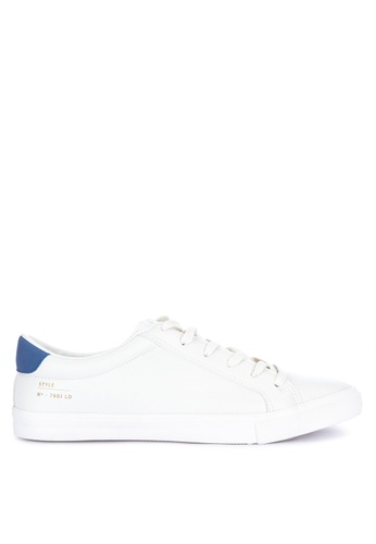 Springfield white Lace-Up Low Cut Minimal Sneakers D25BASH1F31396GS_1