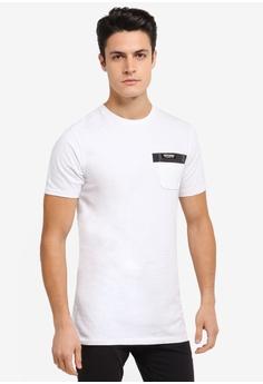 3a2e485e7c7abe Superdry white Surplus Goods Longline Pocket Tee SU137AA0SLN2MY 1