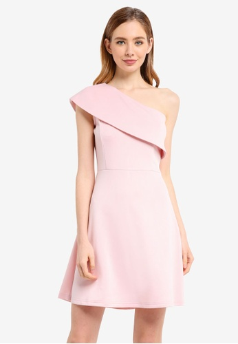 ZALORA pink Toga Fit And Flare Dress BDEF4AAF2097BDGS_1
