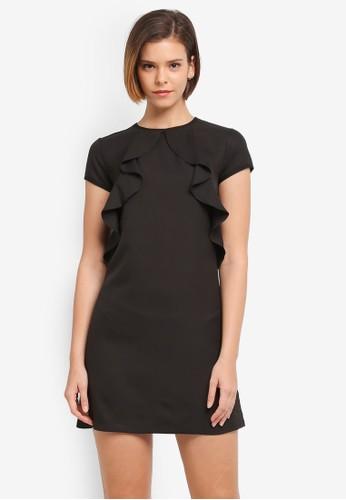 ZALORA black Cascade Ruffle Dress 63EF9AA1E253F7GS_1