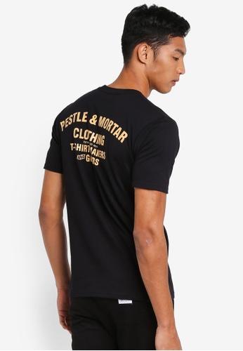 Pestle & Mortar 黑色 休閒印花T恤 8CB86AA885208BGS_1