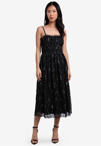 ZALORA black Studio Midi Ruched Dress 45479ZZ35AA4C7GS_1