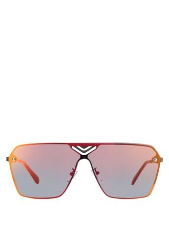 時尚方框太陽眼鏡, 飾品配件, 飾品zalora 心得 ptt配件