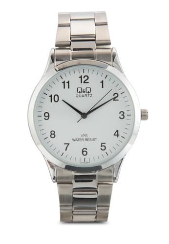 C2zalora taiwan 時尚購物網12J204Y 纖薄數字鍊錶, 錶類, 飾品配件