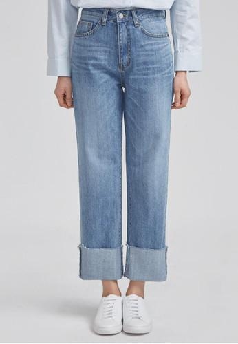esprit 衣服SHALOM 捲邊牛仔褲, 服飾, 牛仔褲