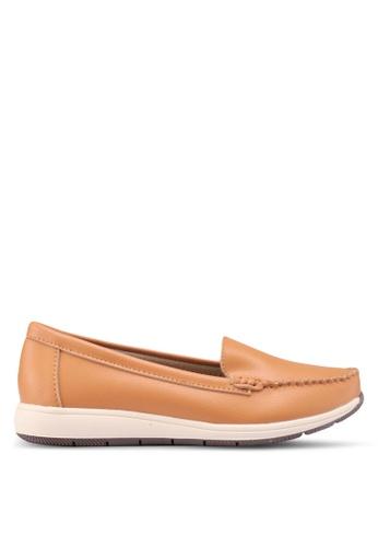 Noveni 褐色 懶人樂福鞋 7E346SHBFF2C27GS_1