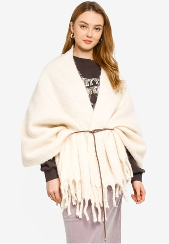 niko and ... beige Belted Stole 6F4F9AC6E3A5A8GS_1