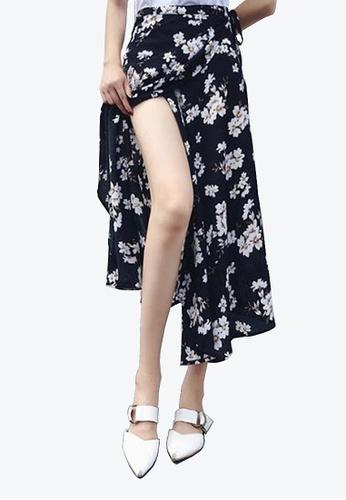 Twenty Eight Shoes black VANSA Floral One-piece Skirt VCW-Sk8.F 90EABAA63CAA7CGS_1